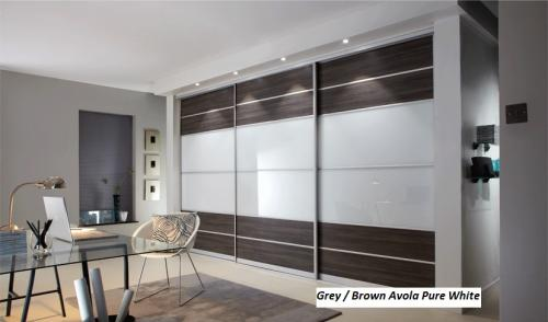 Grey Brown Avola Pure White
